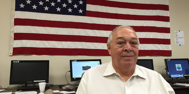 Palm Beach County Democratic Party precinct development director Mike Coleman at the party's headquarters. Photo / Chris Reed