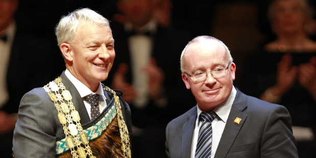 Auckland City Mayor Phil Goff is sworn in to Auckland City Council as the Mayor of Auckland. Photo / Nick Reed