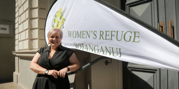 Sharyn Gosnell from Women's Refuge outside the soon-to-be home of one of Whanganui's first pop-up shops, opening later this month. PHOTO/BEVAN CONLEY