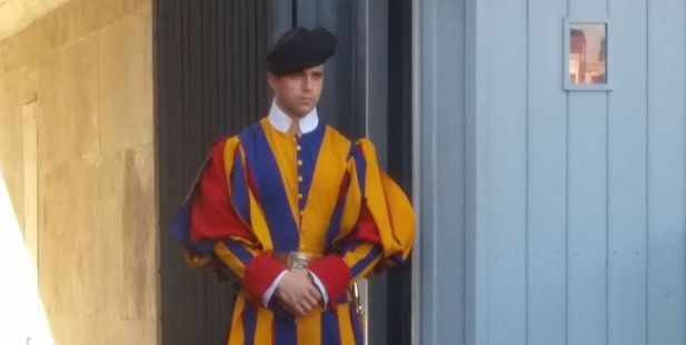 The Swiss guard allegedly responsible for the international custody battle. Photo / supplied