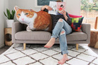 Andie Page says images of pets can be printed on to shaped pillows of any size and are proving a hit with online customers since the launch last week. Photo / Supplied