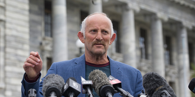 Loading Gareth Morgan announcing the formation of the Opportunities Party at Parliament. New Zealand Herald photograph by Mark Mitchell