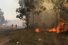 Image tweeted by NSW Fire service of a large fire in Penrith, Western Sydney. Photo / NSWRFS