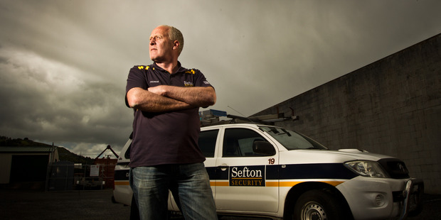 SECURITY: Norm Dodunski from Sefton Security says it's important to lock your house. PHOTO/STEPHEN PARKER