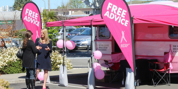 Free advice on breast care and breast cancer will be available from the Pink Caravan in Whanganui on November 17.  PHOTO/Chris Nuttall