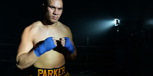Loading The title fight venue has been confirmed - and it's going to be held in Parker's home town of Auckland. Photo / Photosport