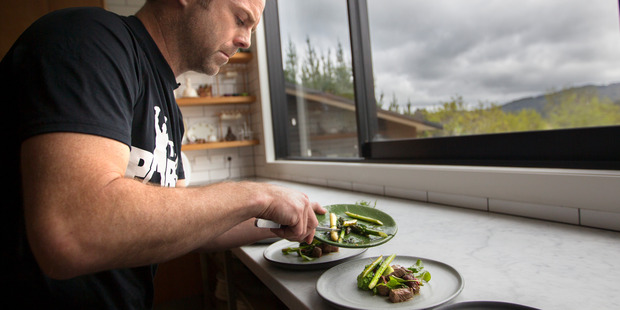 Loading Chef Ben Bayly cooks lunch in ten minutes for Greg Bruce. Photo / Nick Reed