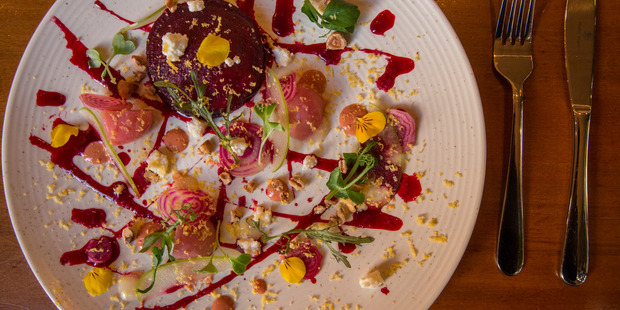 The beetroot small plate. Photo / Peter Meecham