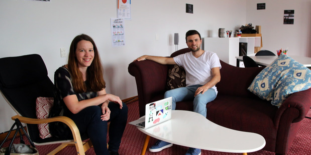 Anna Guenther and Barry Grehan from crowdfunding company PledgeMe. PHOTO/STUART MUNRO