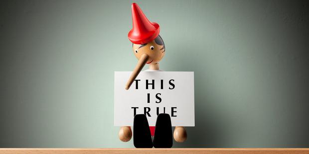 As Pinocchio's nose grew, the lies got easier.