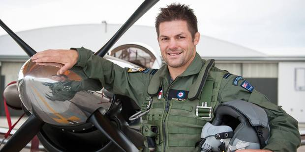 Richie McCaw joining an Air Force Leadership Forum at Base Ohakea. Photo / Facebook