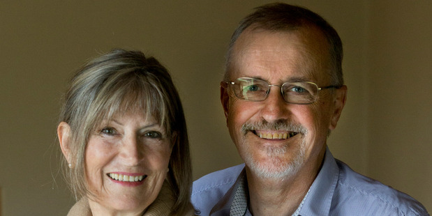 Loading Dr Russell Bishop and his wife Rowan Bishop at their home in Hamilton today. Photo / Alan Gibson
