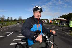 Mayor Greg Brownless made an appearance at the ride. Photo/George Novak