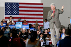 Bill Clinton preached to the converted who lapped up his message on behalf of Hillary. Photo / AP