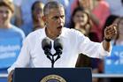 President Barack Obama speaks to supporters. Photo / AP