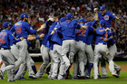 The Chicago Cubs celebrate after Game 7 of the Major League Baseball World Series against the Cleveland Indians. Photo / AP