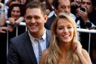 Michael Buble and his wife Luisana Lopilato have announced their 3-year-old son Noah has been diagnosed with cancer. Photo / AP