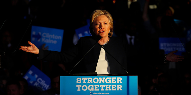 Loading Democratic presidential candidate Hillary Clinton speaks during a campaign rally. Photo / AP