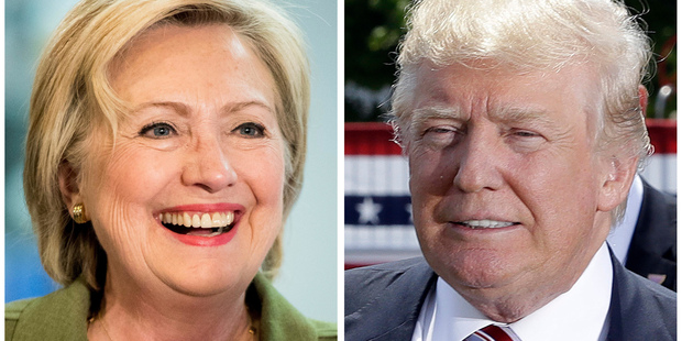 Loading Democratic presidential candidate Hillary Clinton and Republican presidential candidate Donald Trump in 2016 photos. Photo / AP