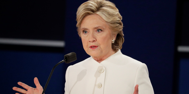 Democratic presidential nominee Hillary Clinton. Photo / AP