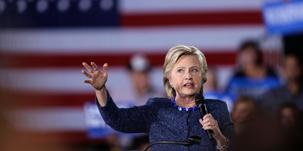 Loading Democratic presidential candidate Hillary Clinton. Photo / AP