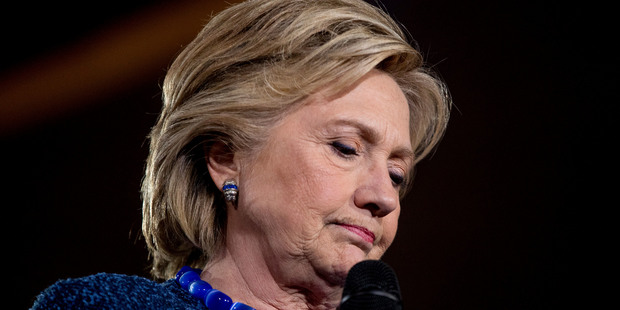 Democratic presidential candidate Hillary Clinton has come under fire over an FBI probe into her emails. Photo / AP