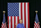 Hillary Clinton told supporters at a rally in Wilton Manors, Florida, yesterday to rise above the 'noise and distraction' as Election Day approaches. Photo / AP