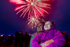 Locals enjoy fireworks at a recent Glo Festival. PHOTO/FILE