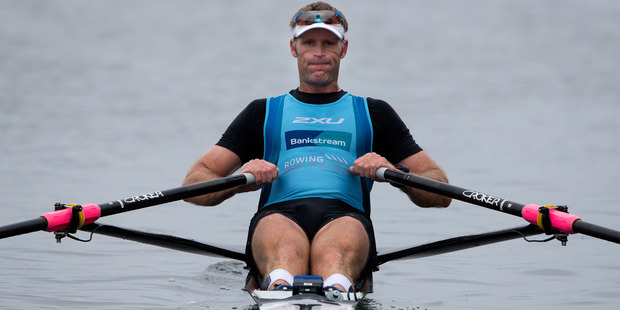 New Zealand Rowing Men's Single Scull Mahe Drysdale - during the media day at the Lake Karapiro, for rowing crews who have qualified or trying to qualify for the Rio Olympics. 4 May 2016 New Zealand H