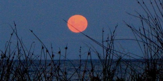 A supermoon photographed in Whangamata in 2012. Photo / File