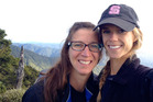 Rescued American mother and daughter Rachel Lloyd (R) and Carolyn Lloyd (L). Photo / Supplied