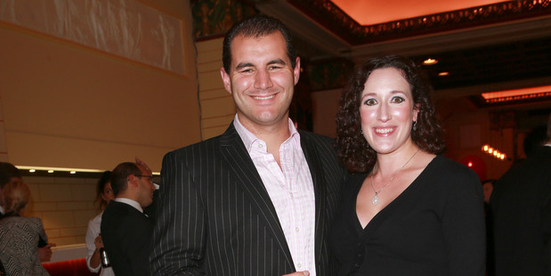 Lucy Schwaner and her husband, Botany MP Jami-Lee Ross.