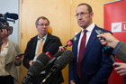 Labour leader Andrew Little released part of Labour's transport policy for Auckland - a plan for light rail. Photo / File
