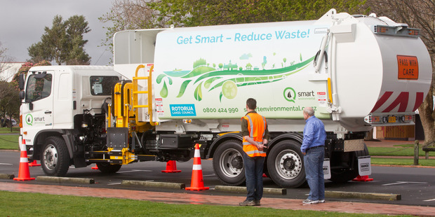 The Rotorua Lakes Council have asked the public for patience as the city gets to grips with the new rubbish and recycling collection service.  Photo/Stephen Parker
