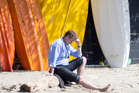Former Labour leader David Cunliffe taking some time out for contemplation at Herne Bay beach after the 2014 election result. Photo/ Peter Meecham