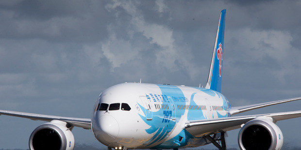China Southern Airlines flies twice a day from Auckland to Guangzhou. Photo / Greg Bowker