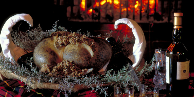 Haggis is made from the heart, liver and lungs of a sheep mixed with oats, onion and spices and encased in the animal's stomach. Photo / Supplied