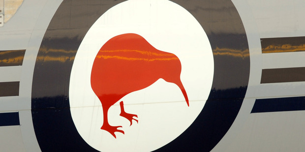 The Kiwi emblem is seen on an Air Force Boeing 757. File photo / NZPA