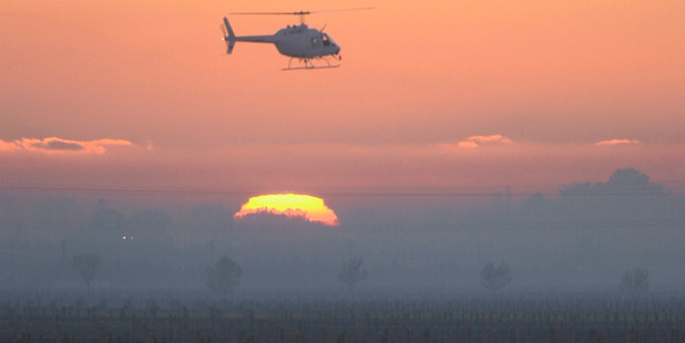 A helicopter pilot crashed early this morning near Wanaka while fighting frost. Photo / File