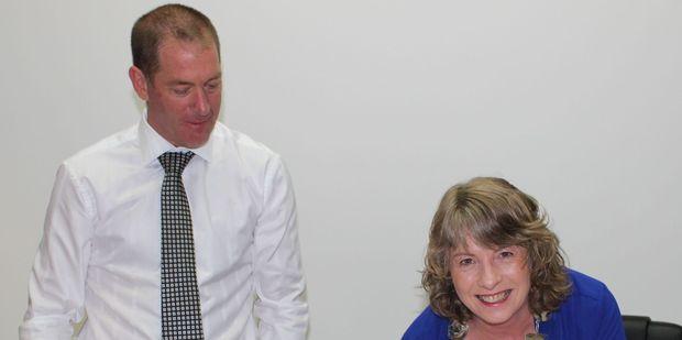 Blair King, chief executive of Tararua District Council, and District mayor Tracey Collis. Photo / Christine McKay