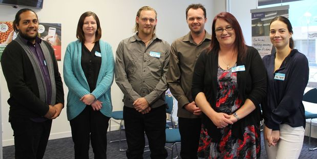Career seekers: Six Dannevirke people are looking to move from their benefit to work and were introduced to the business community at a Chamber of Commerce After 5 event at Work and Income last Thursd