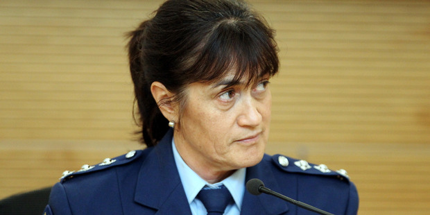 Inspector Tania Kura gives evidence at the Coroner's inquest into Pam McGarva's death. Photo Paul Taylor.