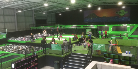 HOUSE OF BOUNCE: Flip Out Trampoline Arena in Tauriko has around 110 students enrolled in tramp classes this school term. Photo/supplied