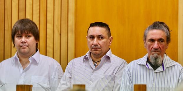 Three of the five accused murdering Craig Rippon in November 2015 -- Mathew Thomas Madams, Kevin Roy Madams, and Tyrone Peter Madams.