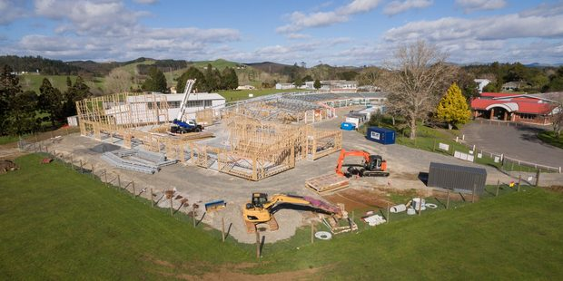 The $14 million rebuild of Northland college is progressing, above, with the first new building already open.