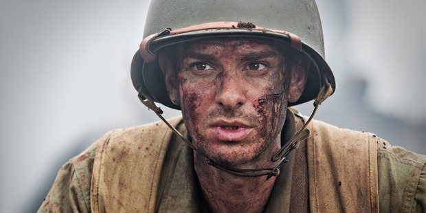 Loading Andrew Garfield stars in the film Hacksaw Ridge, directed by Mel Gibson. Photo / Supplied