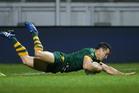 Australia's Cooper Cronk scores a try. Photo / Alex Whitehead