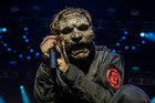 Slipknot front man Corey Taylor didn't hold back at the band's Auckland show, despite suffering a serious neck injury. Photographer/Megan Moss