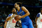 NBA expert Danny Leroux is in no doubt that Steven Adams will receive a four-year, US$100 million contract from the Thunder today. Photo / AP