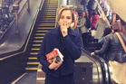 Actress Emma Watson hid copies of Mom & Me & Mom around the London Underground. Photo / Instagram